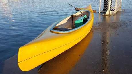 This canoe has been found drifting near Peel Island.