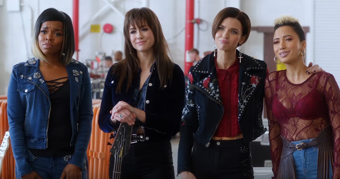 Ruby Rose, second from right, in a scene from Pitch Perfect 3.