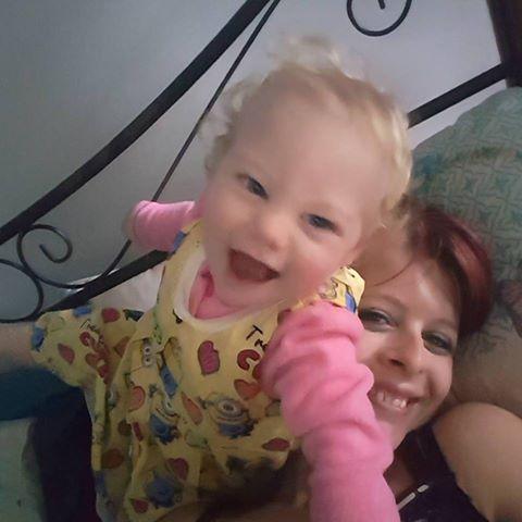 Vanessa Fletcher with daughter Maisie.