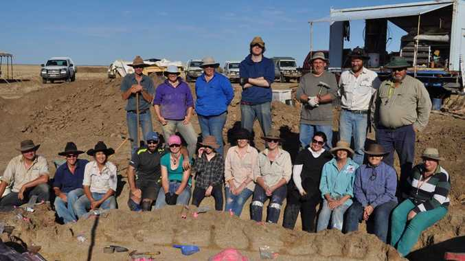 Museum staff and volunteers with 'Judy'
