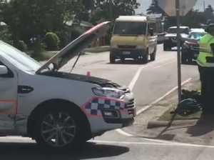 Police car t-boned
