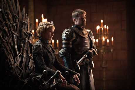 Lena Headey and Nikolaj Coster-Waldau in a scene from season 7 of Game of Thrones.