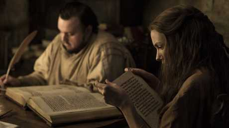 John Bradley and Hannah Murray in a scene from season 7 of Game of Thrones.