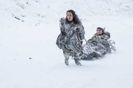 Ellie Kendrick and Isaac Hempstead Wright in a scene from season 7 of Game of Thrones.