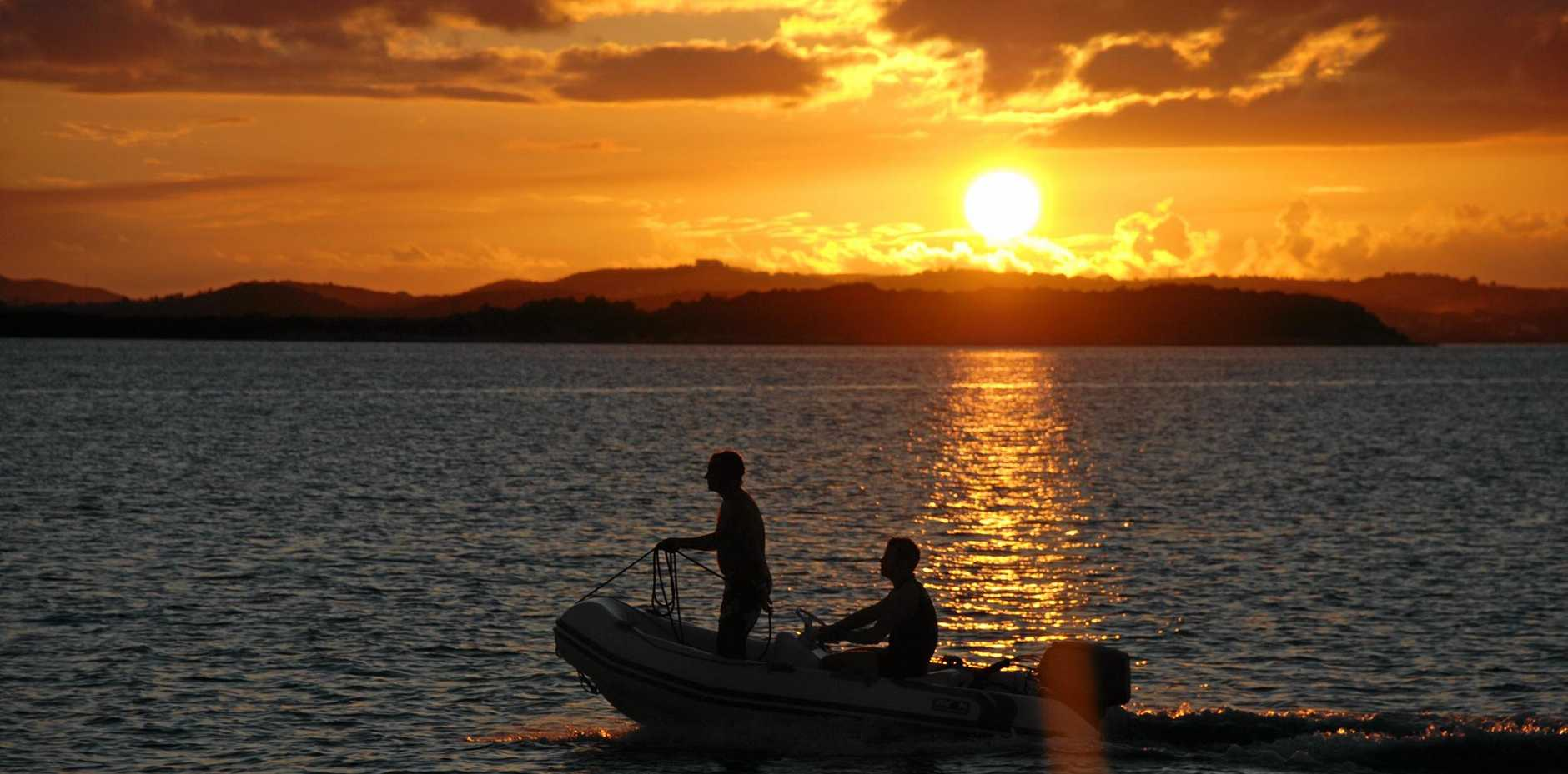 An Airlie Beach man has faced a Mackay court for sailing while drunk, after he was caught rowing a dinghy to shore.