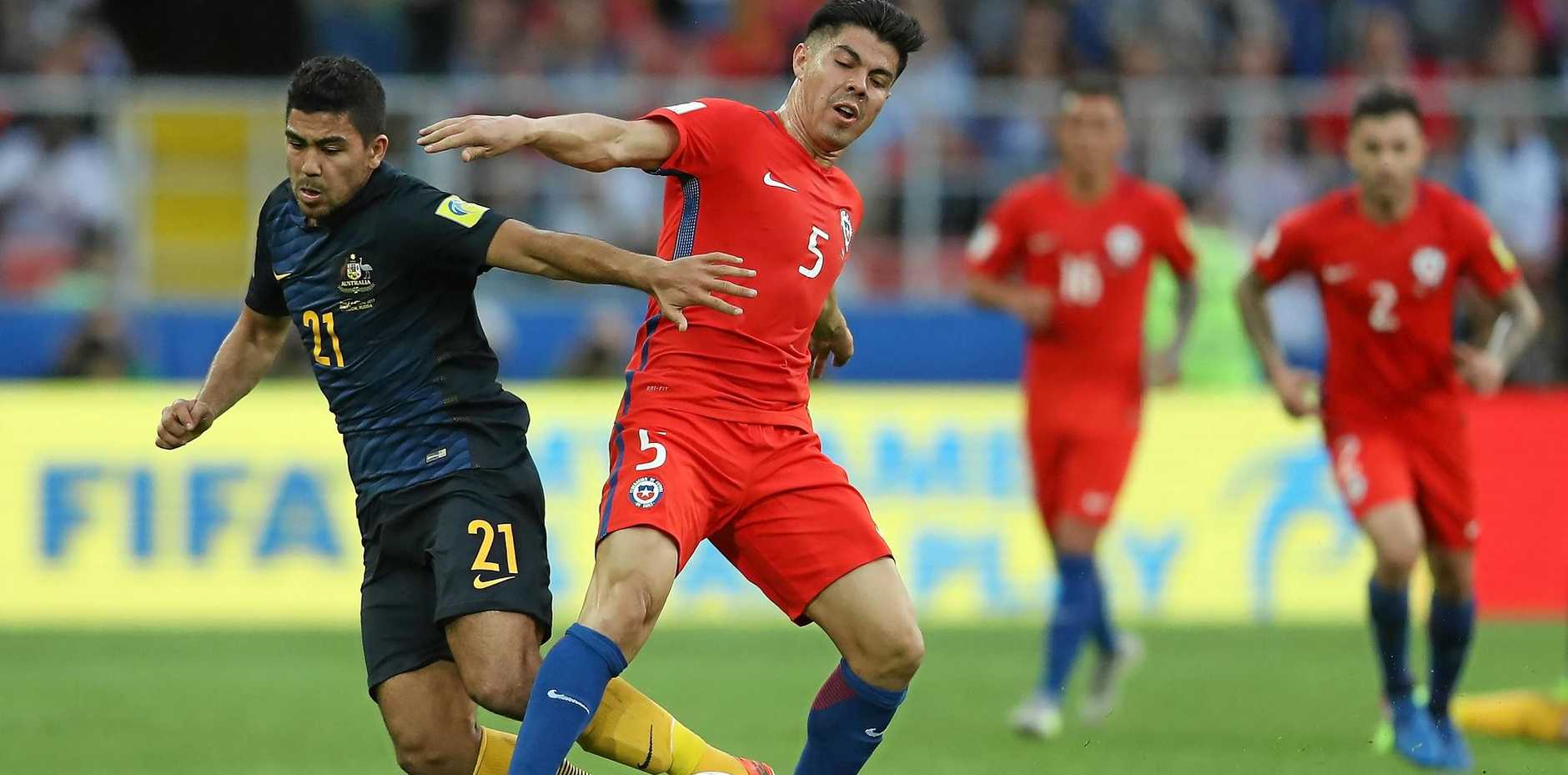 Massimo Luongo was a top performer for the Socceroos against Chile.