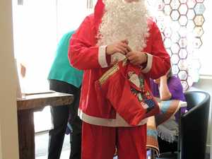 CHRISTMAS IN JULY: Santa (aka Cr Peter Saxelby).