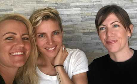 Chris Hemsworth's wife Elsa Pataky (centre) at Rainbow Beach Hair and Beauty where she went for a massage.