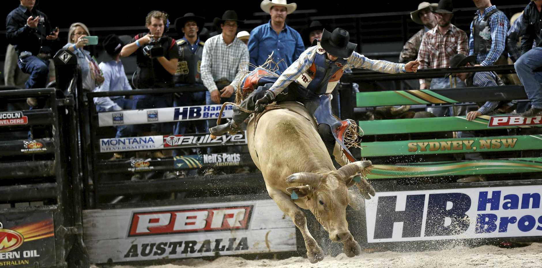 TOP FORM: PBR Robinson Guedes is keen to become a champion bull rider in Australia.
