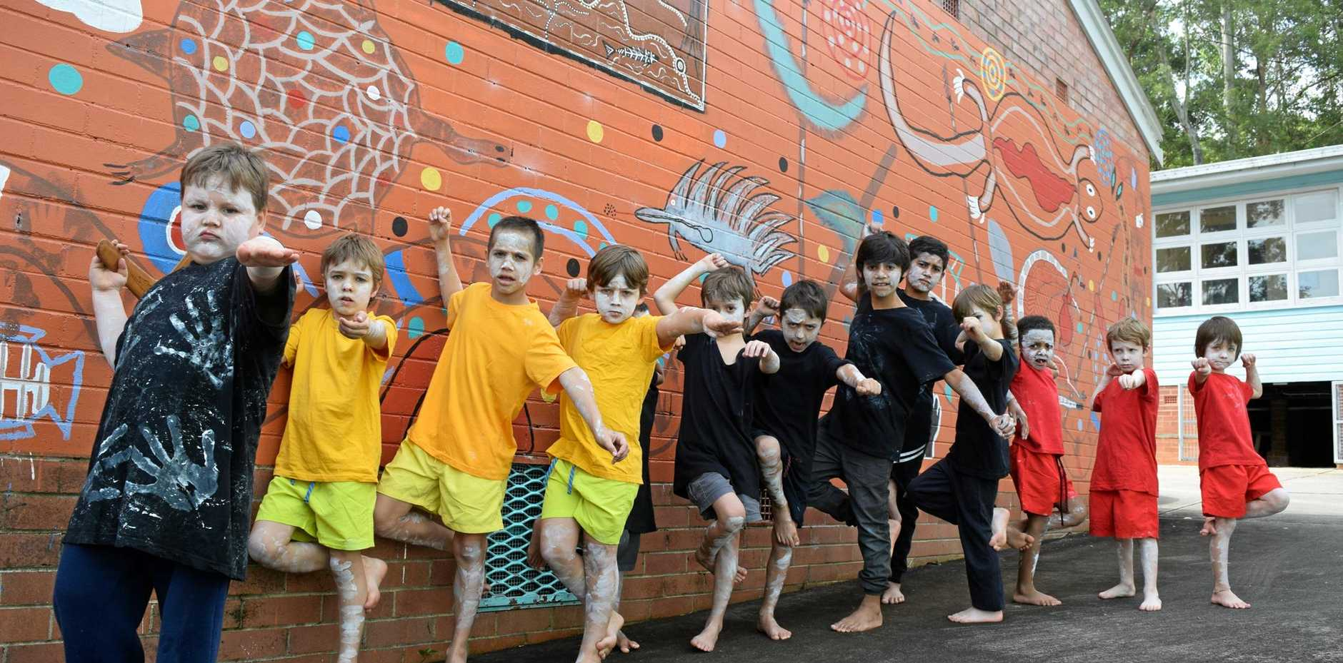 Students at Albert Park Public School in Lismore performed a dance as part of NAIDOC week.