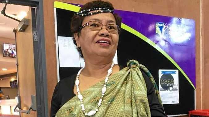 CULTURAL: Rita Toledo Clarke dressed in traditional Filipino garb.