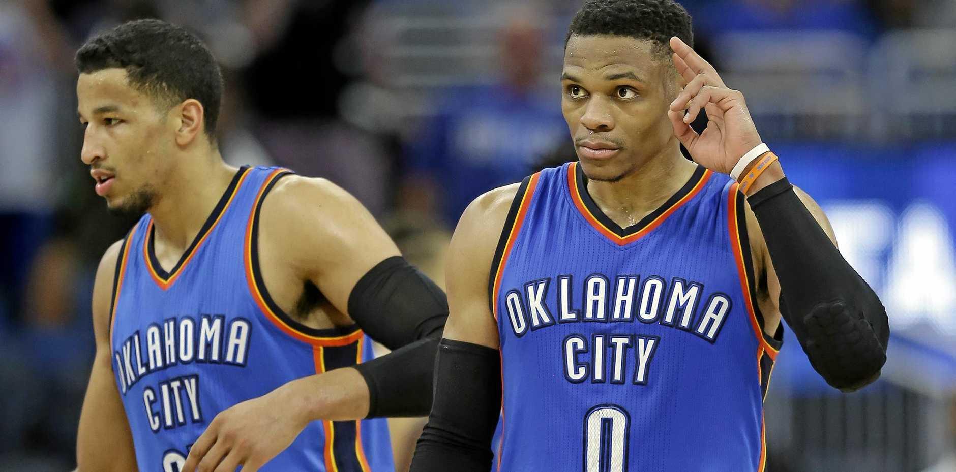 MAIN MAN: Oklahoma City Thunder's Russell Westbrook has been named 2017 NBA MVP.