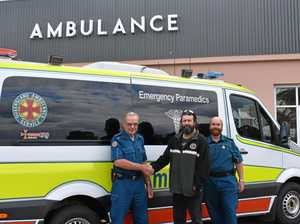 Paramedic living two doors down saved his life with CPR