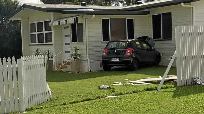 A learner has crashed through a fence and into a South Mackay home.