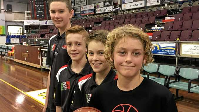 Basketballers Aidan Collins, Noah Faa, Jake MacDonald, and Bohde Norton are part of the first Mackay Under 14 team in more than a decade to compete at the national championships.