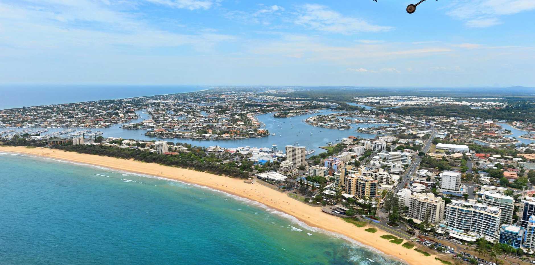 Aerial photographs of the Sunshine Coast.