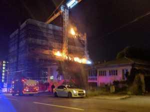 High-rise building catches fire in Brisbane suburb