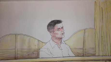 A sketch of Damien Joseph Jelicic.