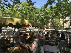 Market turns quaint village into bustling mecca in France