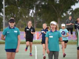 Caitlin Bassett netball clinic