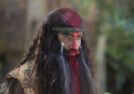 Clarence Ryan as Jarli in a scene from season two of the TV series Cleverman.