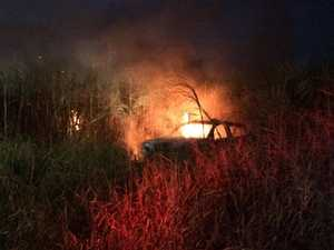 Car fire North Bundaberg