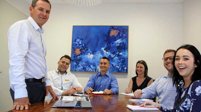 Century 21 on Duporth principal Damien Said with team members Ryan Tomlinson, Jamie Smith, Kristie Cannon, Andrew Richardson and Sarah Beckman at the Maroochydore office.