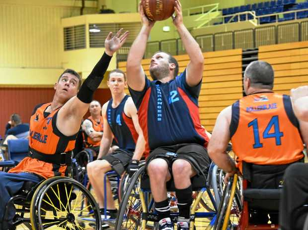UNDEFEATED: Lachlan Steinohrt shoots for the Toowoomba Bushrangers who were named champions of the recent Queensland Classics tournament.