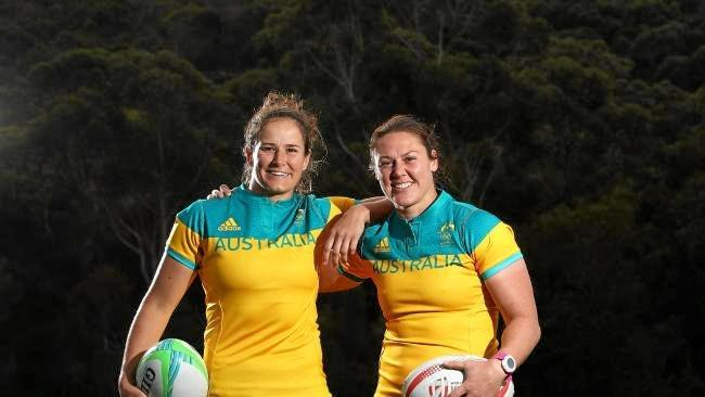 Sevens stars Shannon Parry and Sharni Williams have been picked for the women's World Cup. Source: News Corp Australia
