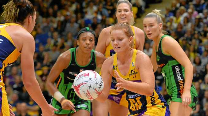 GOAL ATTACK: Lightning's Stephanie Wood will play for the side again in 2018.
