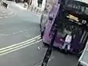 Mowed down by bus