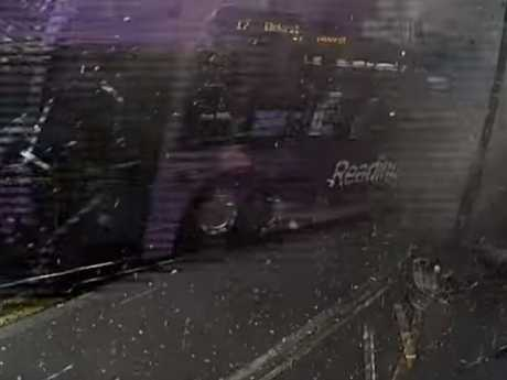 The moment the bus hit. Picture: YouTube/BBC