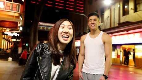 An increasing number of Asian born immigrants are picking Sydney over Shanghai or Beijing. Pictured are Naomi and Edward in China Town, Sydney.