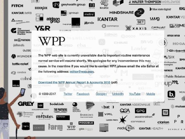 Advertising agency WPP has also been hit by the cyber attack. Picture: WPP