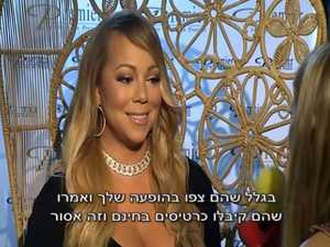Mariah Carey interviewed on Israeli television