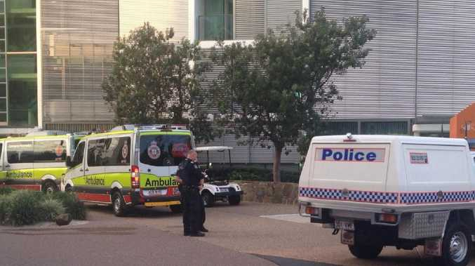 Police at the incident scene at Ephraim Island. Picture: Nine Gold Coast News