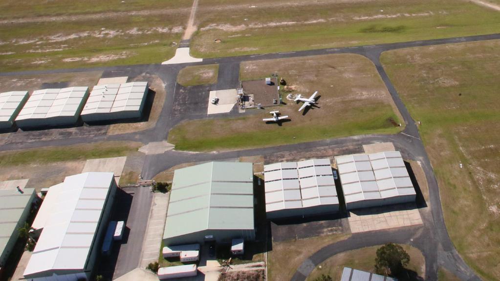 Caboolture airport, north of Brisbane. Picture: File photo/Jamie Hanson