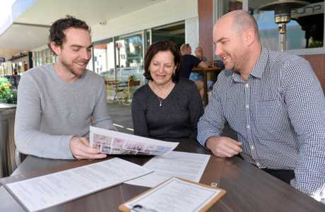 Adrian Connors, Lyn Connors and Damian Connors starting a new venture at the Avenue.