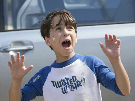 Jason Drucker in a scene from the movie Diary of a Wimpy Kid: The Long Haul.