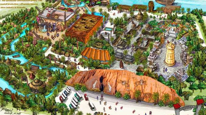Artist impression of Songcheng group's planned Theme Park at Carrara.