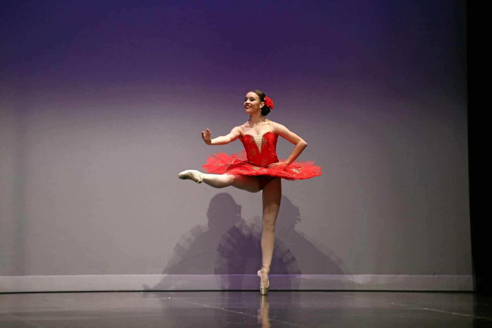 BORN TO FLY: Courtney Callaghan has been accepted into a dance training school in the US.