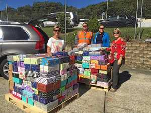 Zonta collects shoe boxes of love