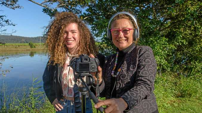 Grace Hickey with filmmaker Debrah Novak who are working on a film that tells Grace's inspiring story.