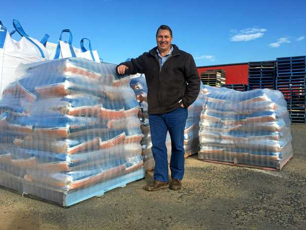 GROWING FAMILY: Matthew Wainwright and father Stephen are continuing to nurture the family-owned stockfeed business Nutramix with high- tech new mills in Warwick and Narrabri.