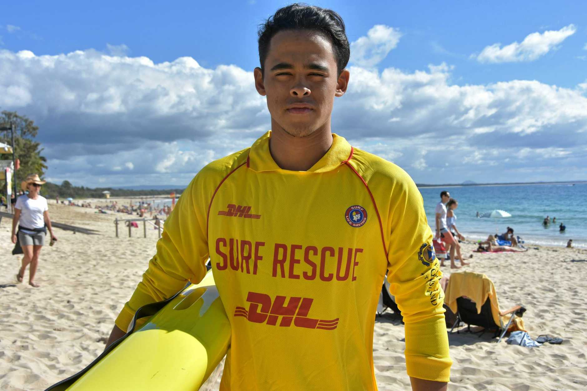 EPIC BATTLE: Lifesaver Robert Lemon wone fight to save his mate from drowning.