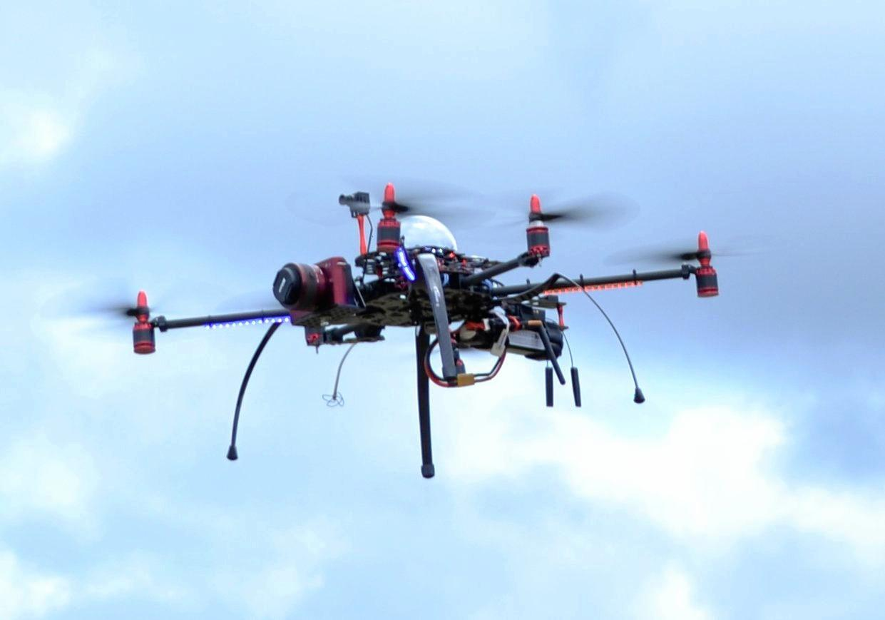 DRONE DOINGS: This little item can take photos from a great height.  Photo Samantha Elley / Express Examiner
