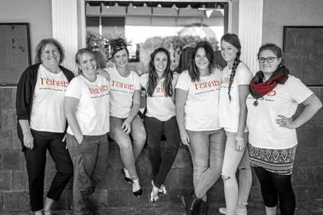 Helping Toowoomba sex workers are (from left) Debbie Dodds, Amy Philp, Hailey Casey, Jess Ferriday, Hannah Dayet, Ami Irving and Evelien Vandenbossche.