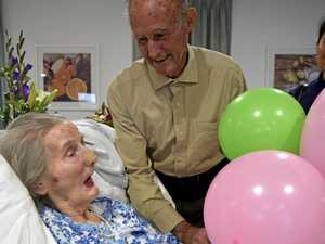 CENTURY OF LIFE: Betty Gipp celebrated her 100th birthday yesterday with her son, Robin.