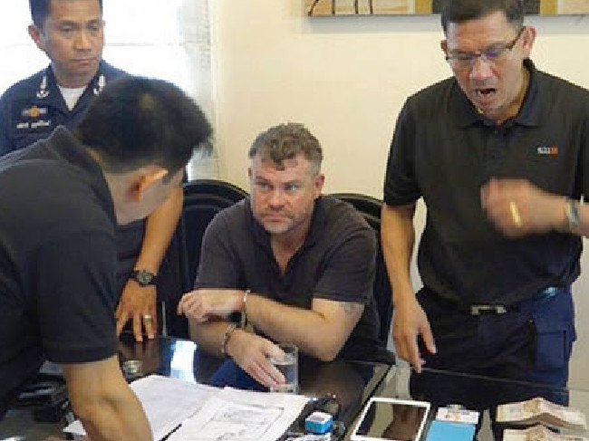 British drug baron Jonathan Moorby following his arrest in Thailand earlier this month.