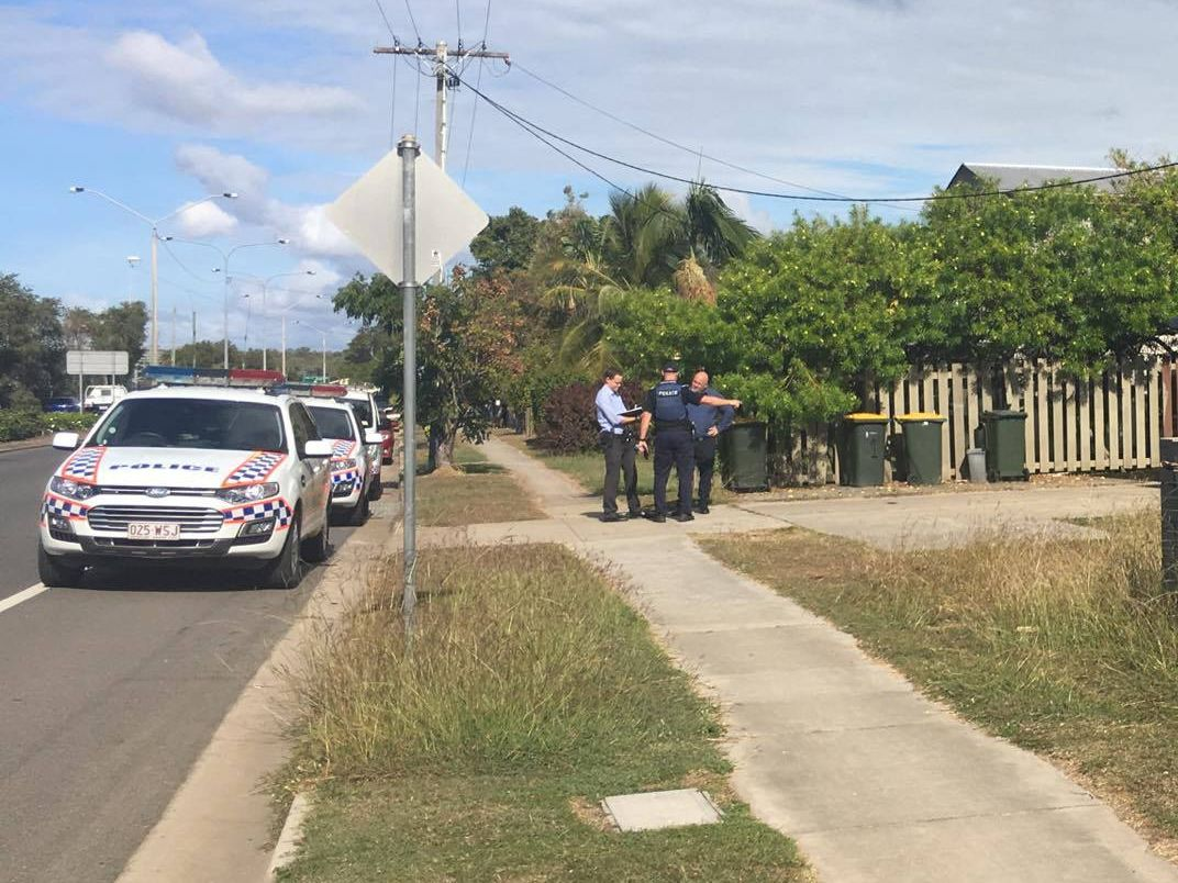'STABBED': Police attended a South Gladstone unit complex yesterday following reports a woman had been stabbed in the hand with a machete.